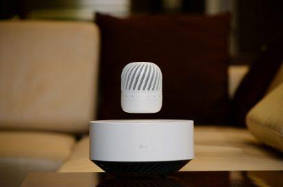 The LG Levitating Portable Speaker model PJ9