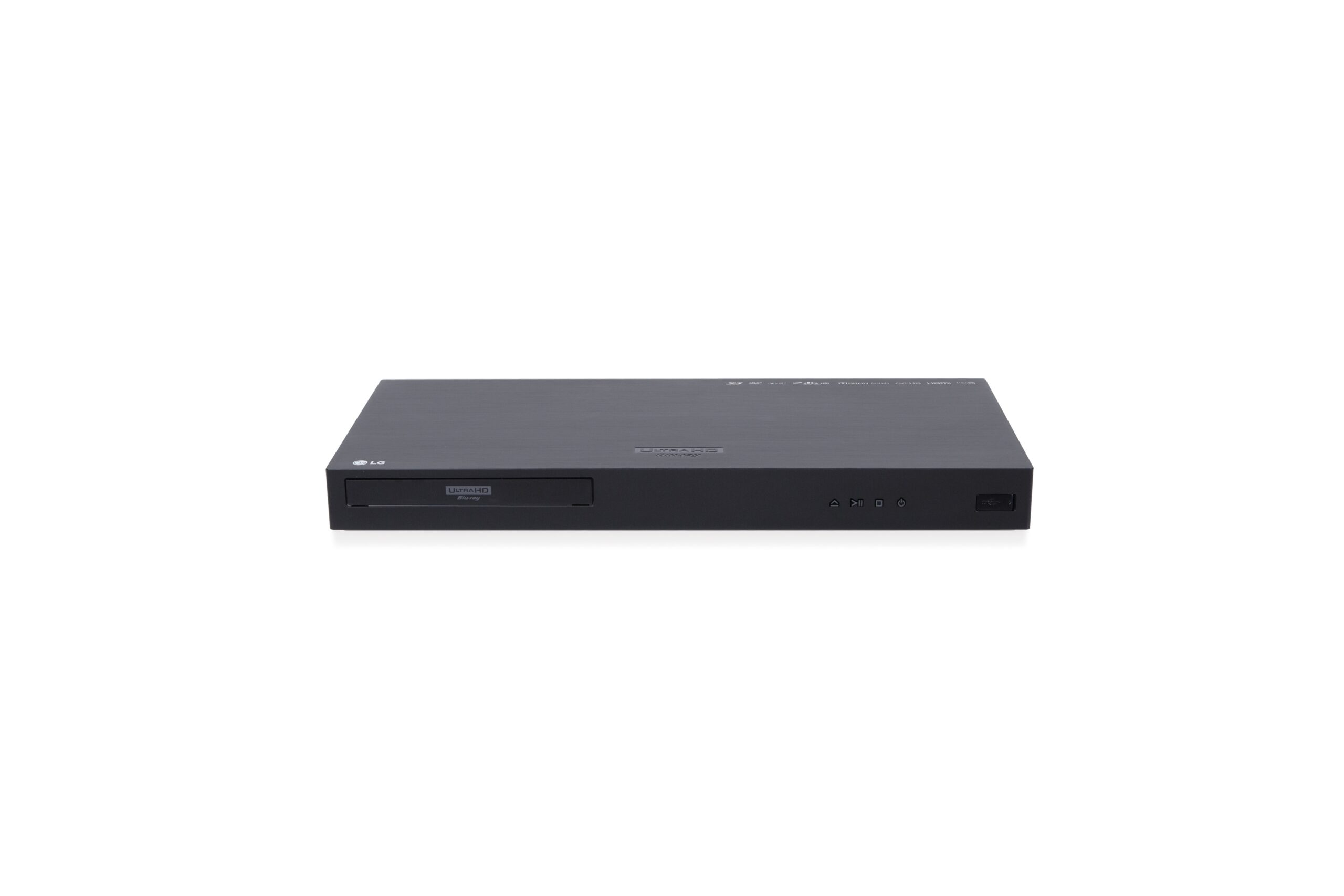 Front view of the LG UP970 Ultra HD Blu-ray player