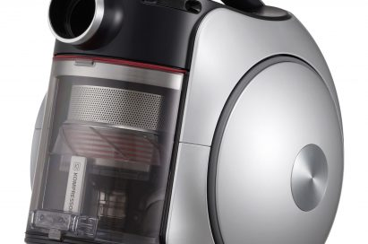 Close-up view of the LG CordZero Canister vacuum cleaner, only the canister portion