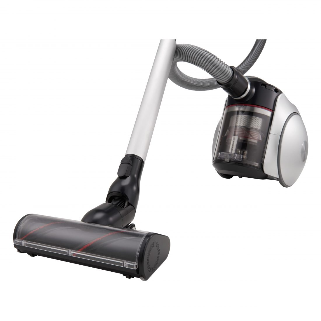 Close-up view of the LG CordZero Canister vacuum cleaner seen from a 15-degree angle