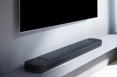 Side view of LG SoundBar model SJ9