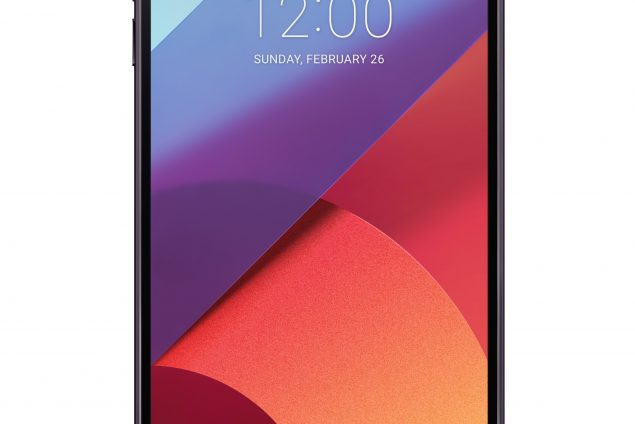 The front view of the LG G6 in Astro Black