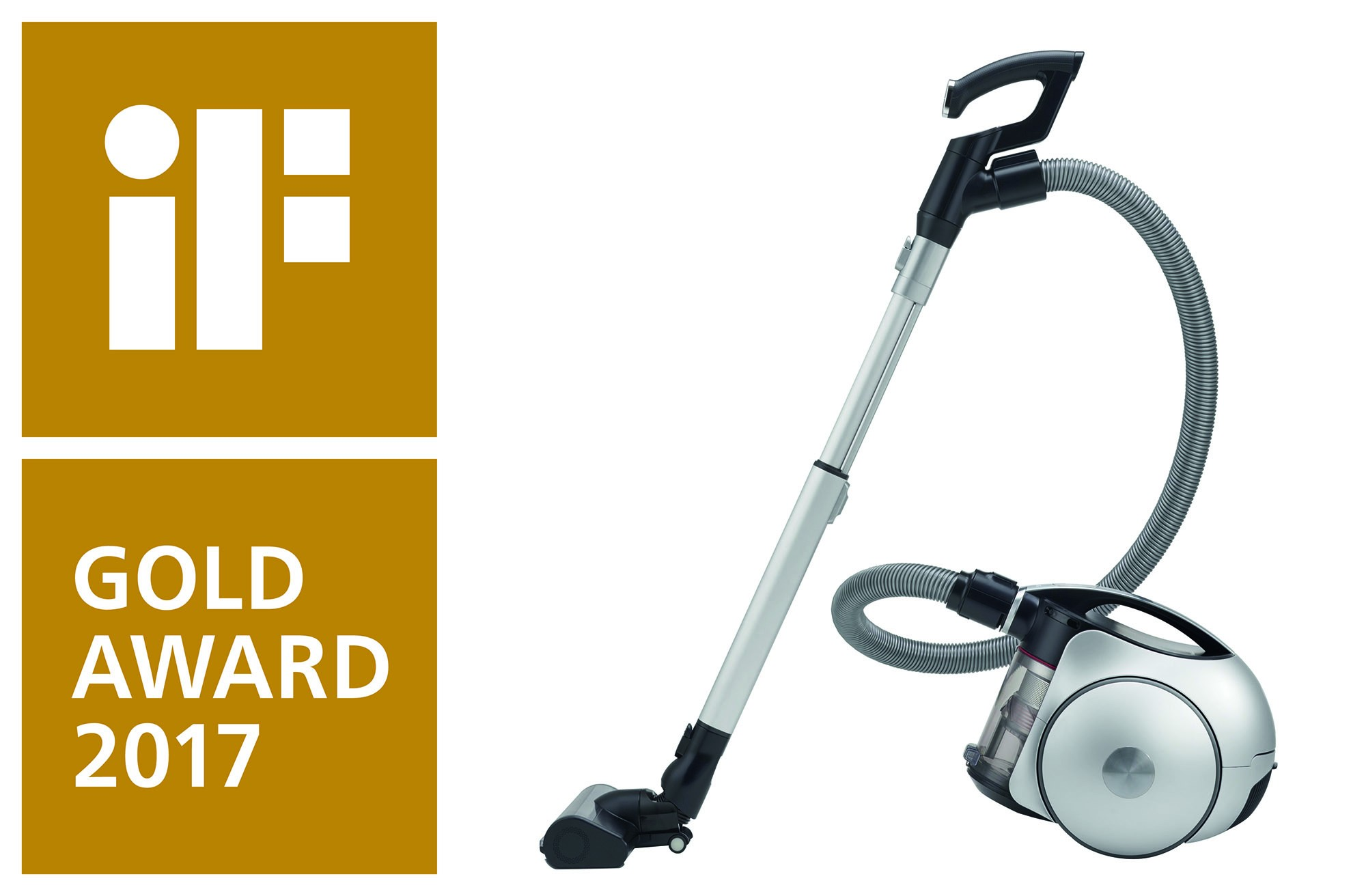 The LG CordZero™ canister vacuum cleaner wins the highly prestigious iF Gold Award.