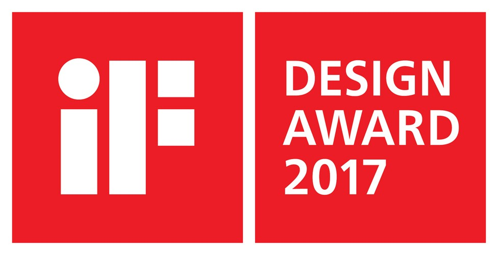 The logo of the iF Design Award 2017, with LG receiving a record-breaking 30 awards.