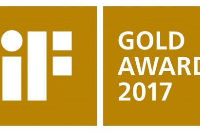 The logo of the iF Gold Award 2017.