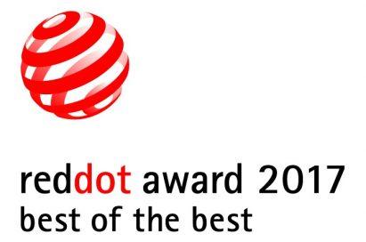 Logo of the reddot award 2017 best of the best.