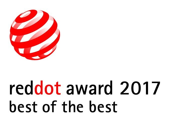 Logo of the reddot award 2017 best of the best.