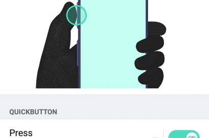 A screenshot of the LG X venture's QuickButton customization setting
