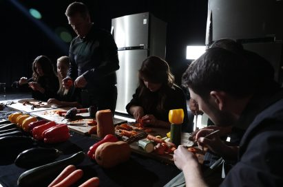 A group of London Vegetable Orchestra musicians incredibly transform vegetables which have been stored in LG refrigerators into musical instruments.