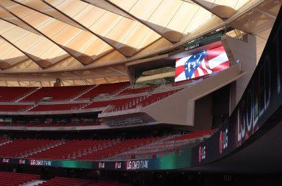 A closer look at LG's signage at Atletico de Madrid's stadium