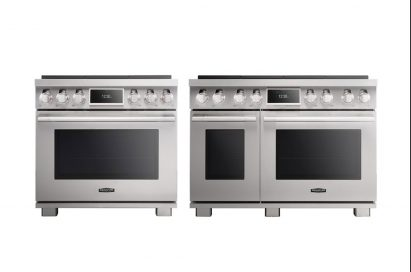 A front view of the SIGNATURE KITCHEN SUITE Pro range.