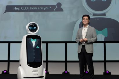 LG Electronics president and chief technology officer, Dr. I.P Park, delivers the keynote address.