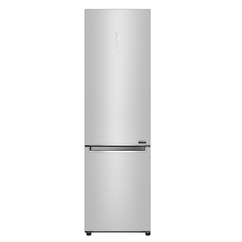 LG Centum System™ bottom-freezer refrigerator in stainless steel finish