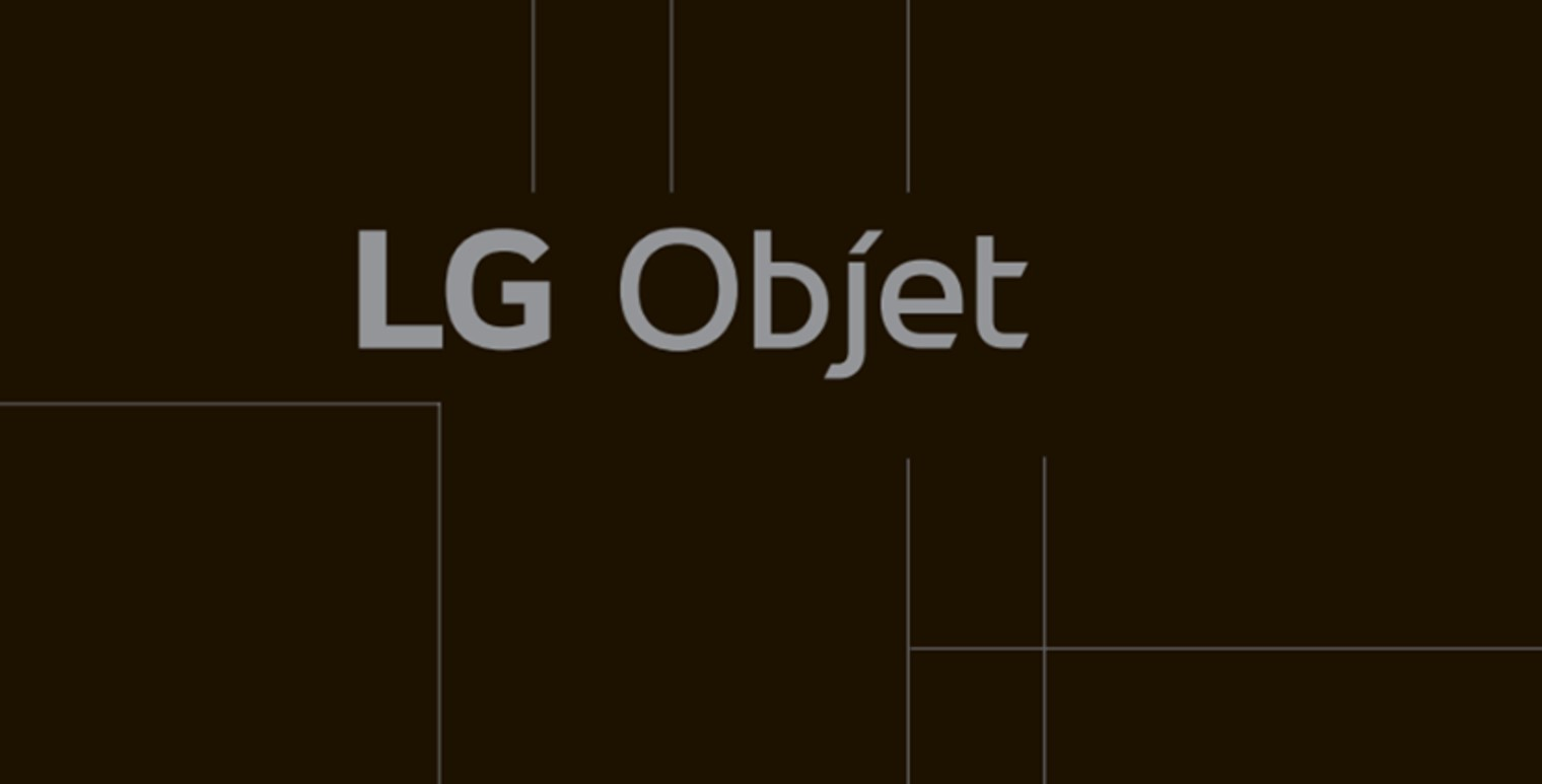The brand logo of LG Objet
