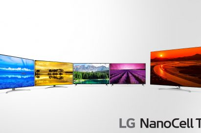 A front view of the LG NanoCell TV Range