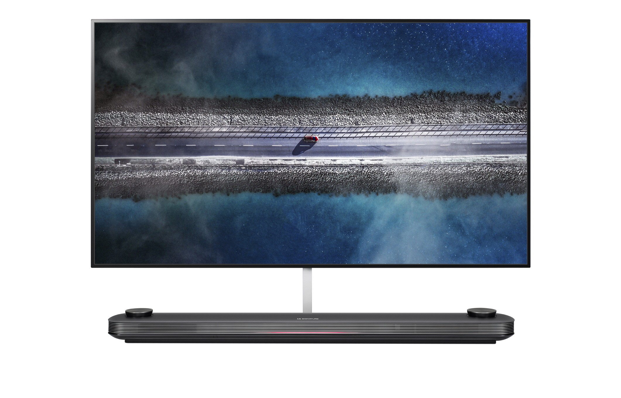 A front view of LG OLED TV W9.