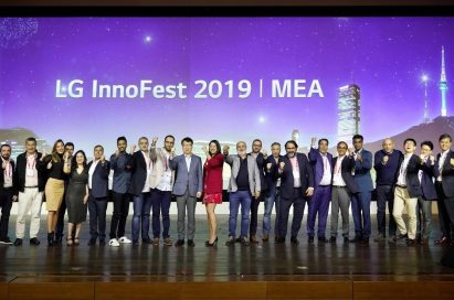 A group photo of attendees at LG InnoFest 2019 MEA
