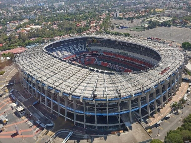 A top view of the Estadio Azteca taken by the LG Q60 smartphone