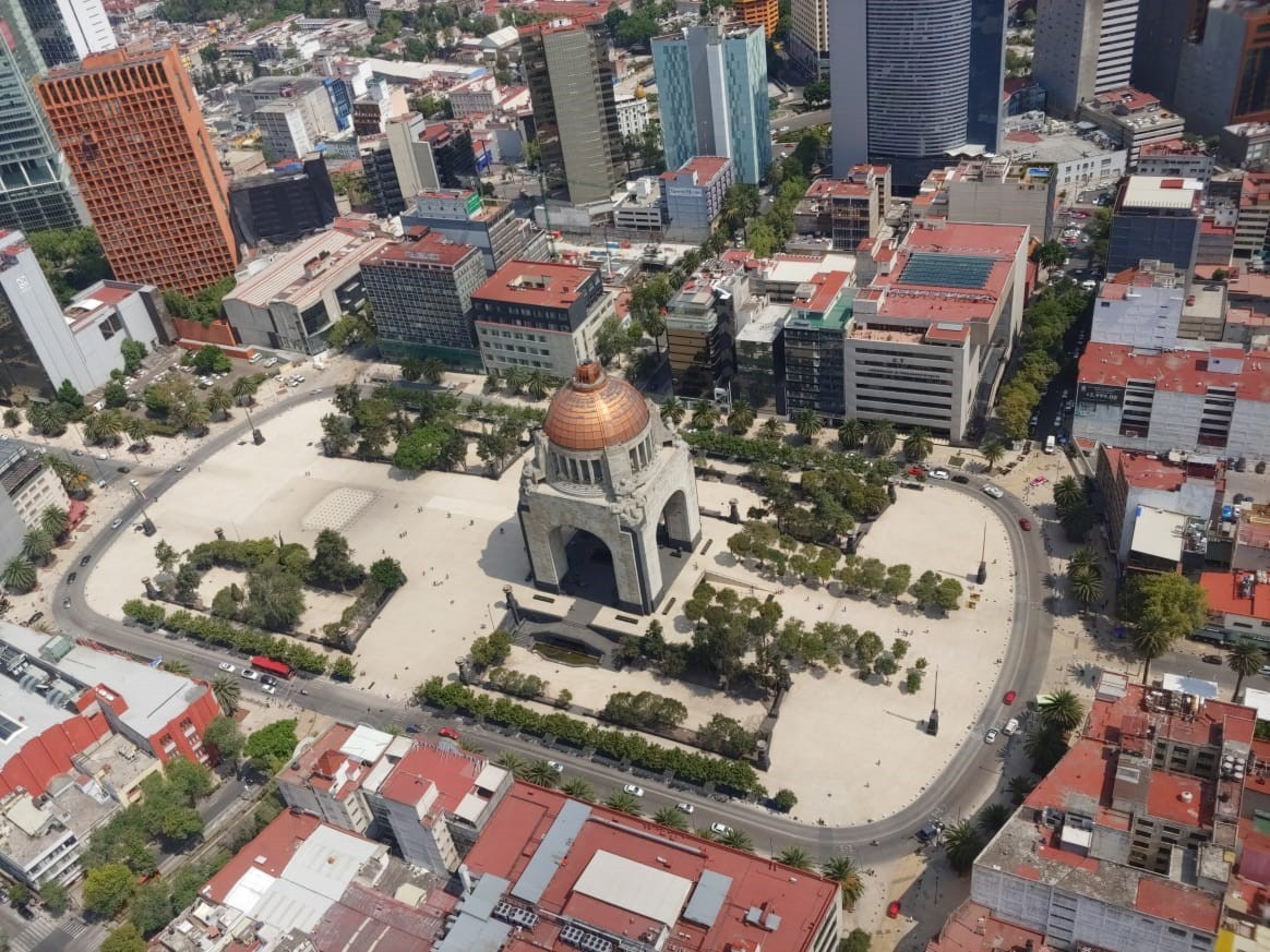 A top view of the Monument to the Revolution taken by LG Q60