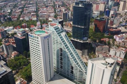 A top view of the Sura Mexico building taken by LG Q60