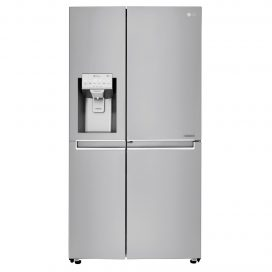 A front view of LG's Side-by-Side refrigerator model.