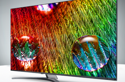LG's 75-inch NanoCell 8K television seen from at a 15-degree angle