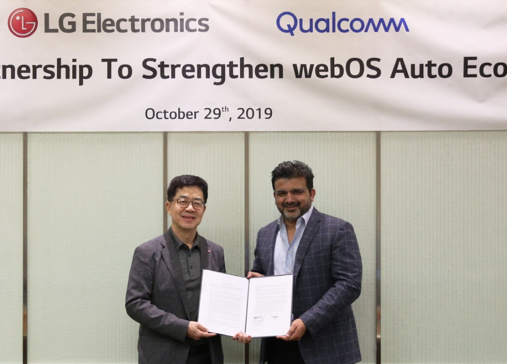 Dr. I.P. Park, president and Chief Technology Officer of LG Electronics and Nakul Duggal, senior vice president and head of automative product and program at Qualcomm