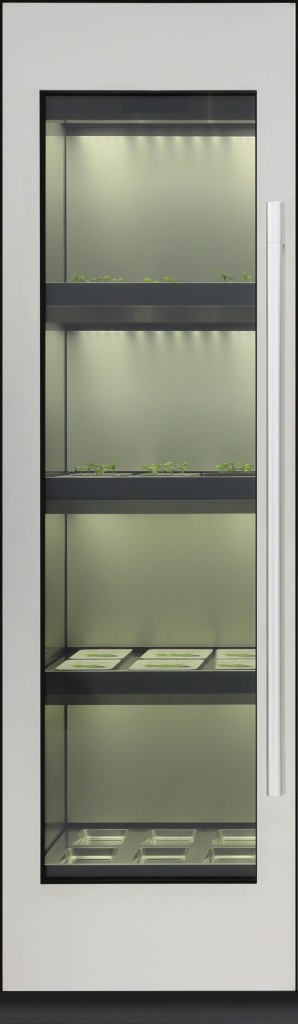 A cropped image showing just the left side of LG's indoor gardening appliance