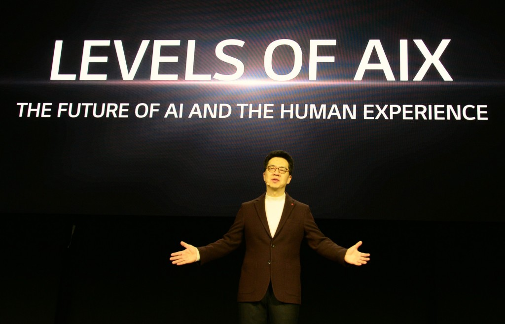 """Dr. I.P. Park talks about the future of artificial intelligence (AI) development at CES 2020 under the topic, """"Levels of AI Experience: the future of AI and the Human Experience"""""""