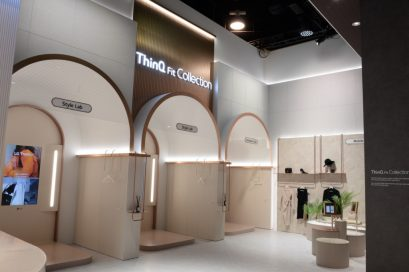 A view of the ThinQ Fit Collection Zone that allows visitors to experience virtual fashion without having to step into a fitting room