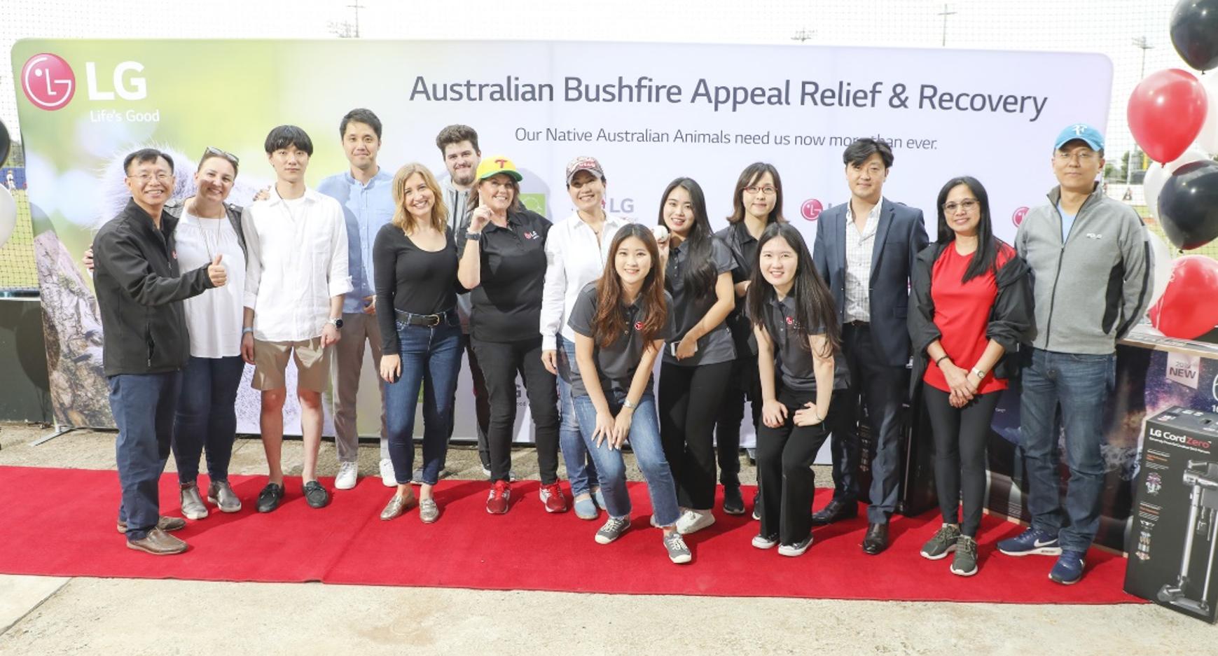 The LG Australia team pose for a group photo