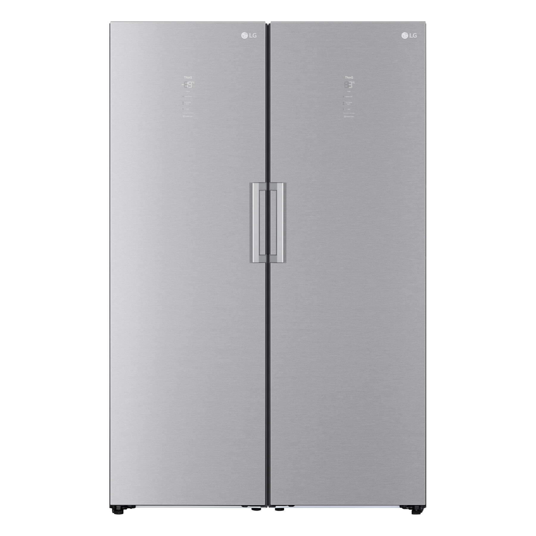 Front view of the updated LG Fridge and Freezer pair