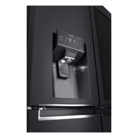 Close-up view of the water dispenser of LG InstaView Door-in-Door refrigerator with UVnan