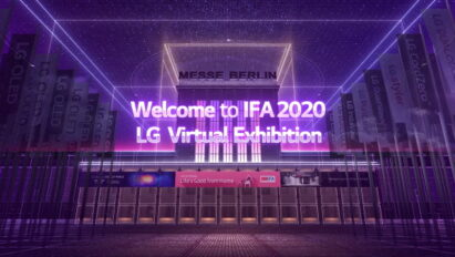 A screenshot from the welcoming video on LG's IFA 2020 information portal, which relays important up-to-date information on its virtual exhibition