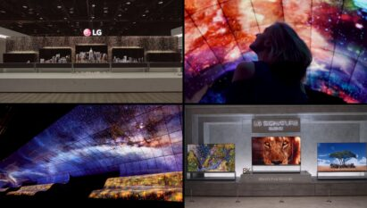 Pictures of LG's most iconic displays of innovation over the years, including its rollable TV, LG OLED Falls and the world's first OLED 8K TVs