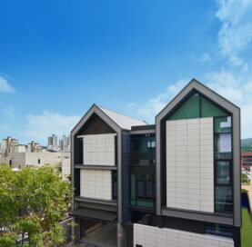 The exterior of LG's smart home, LG ThinQ Home located in Pangyo, Korea