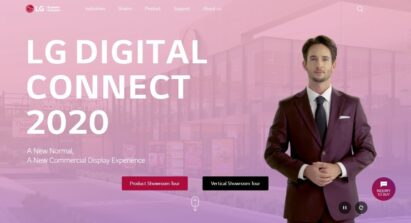 The home page of the LG Digital Connect 2020 Virtual Showroom's online gateway