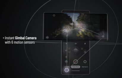 LG WING comes with a Gimbal Motion Camera that utilizes six motion sensors for smooth and steady videos
