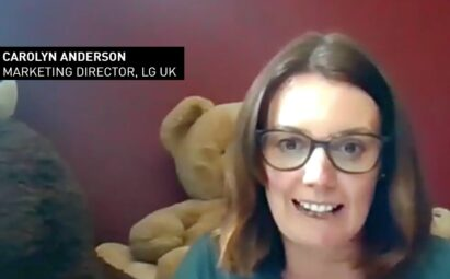 Carolyn Anderson, head of marketing for LG UK, congratulating the progamme's participants online