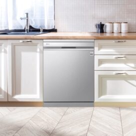 LG QuadWash™ dishwasher seamlessly blending into a modern kitchen décor