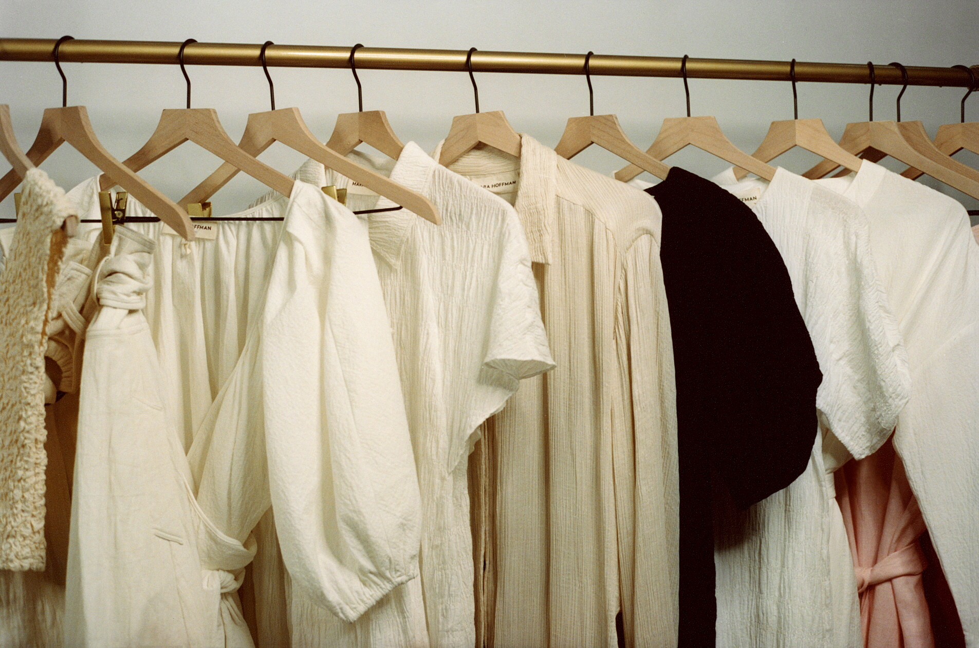 Clothes created under collaboration with Mara Hoffman
