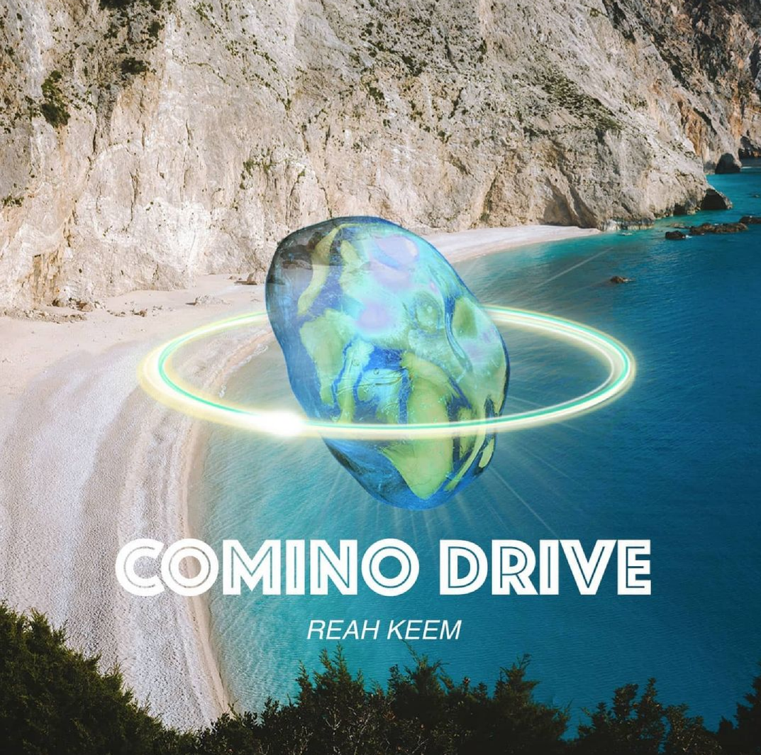 The album cover for Reah Keem's first song, 'Comino Drive,' which is all about the clear-blue beautiful beaches of Malta.