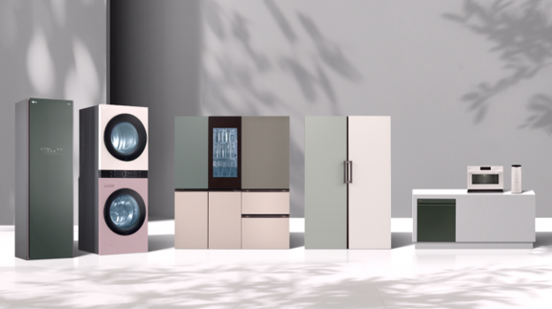 The LG Furniture Concept Appliance range featuring premium materials and colors combined with advanced technology.