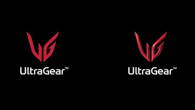 The official 2D and 3D logos of LG UltraGear.