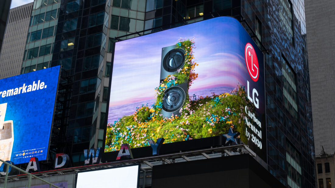 A special video capturing LG's green initiatives will debut on the Times Square billboard in New York City on Earth Day, April 22. To learn more about LG Electronics' ENERGY STAR-certified products and green initiatives, please visit www.LG.com.